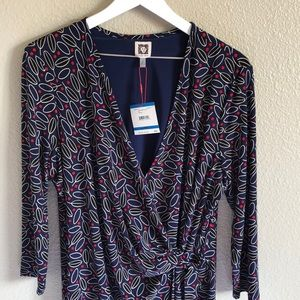 Beautiful Anne Klein faux wrap dress.   NWT